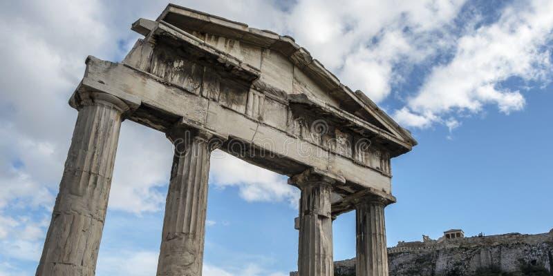 Roman Agora em Atenas, Grécia foto de stock