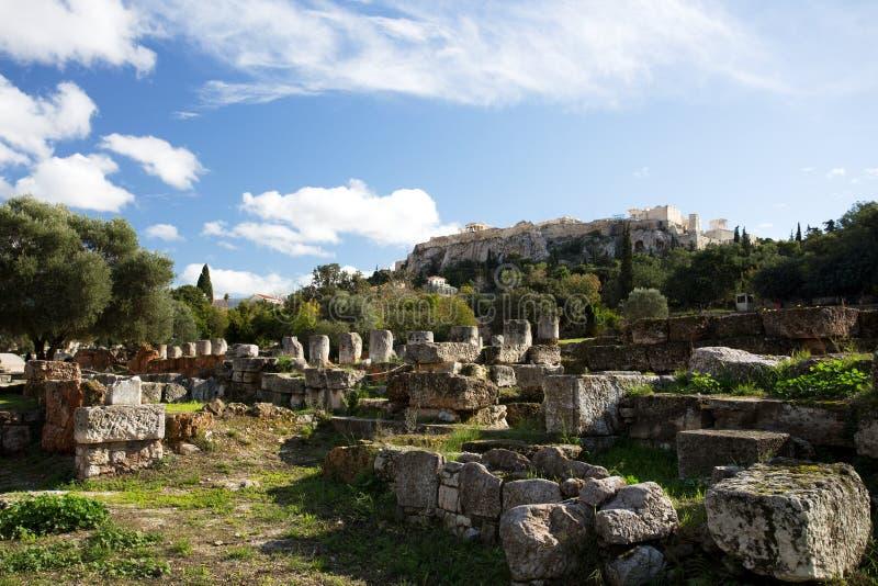 Roman Agora i Aten, Grekland royaltyfri bild
