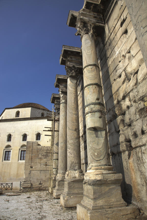 Roman Agora i Aten Grekland royaltyfria bilder