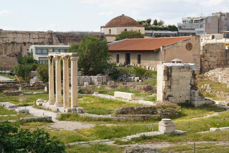 Roman Agora i Aten, Grekland fotografering för bildbyråer