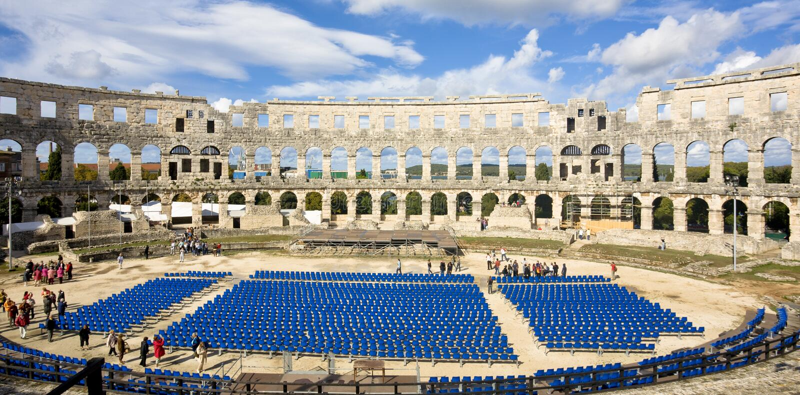 Roman Amfitheater royalty-vrije stock afbeelding