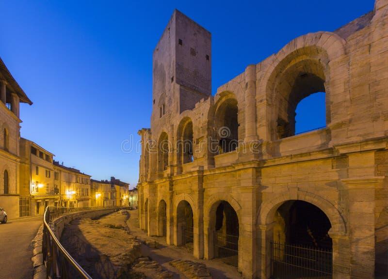Roman Amfitheater - Arles - Zuiden van Frankrijk stock fotografie