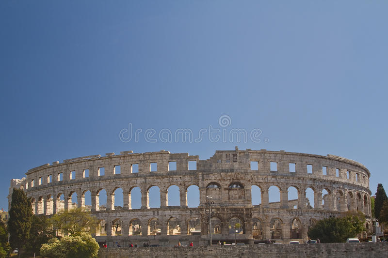 Download Roman amphitheater stock image. Image of colossal, croatia - 25616251