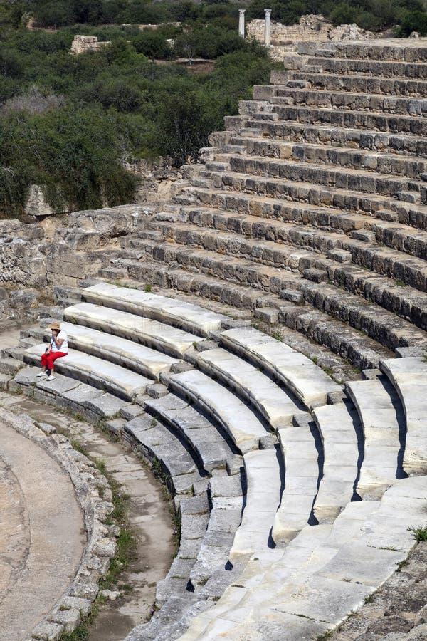 Roman Amphitheater ai salami - turco Cipro fotografia stock libera da diritti