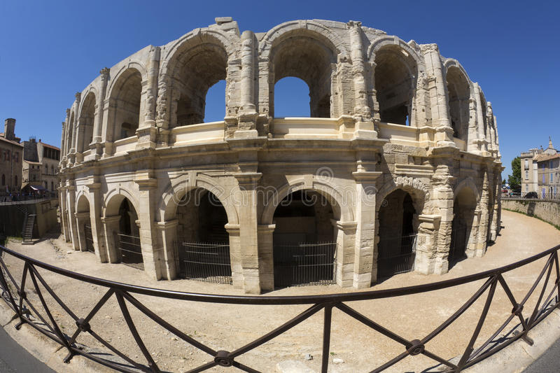 Roman Amphitheater - Arles - South of France stock photography
