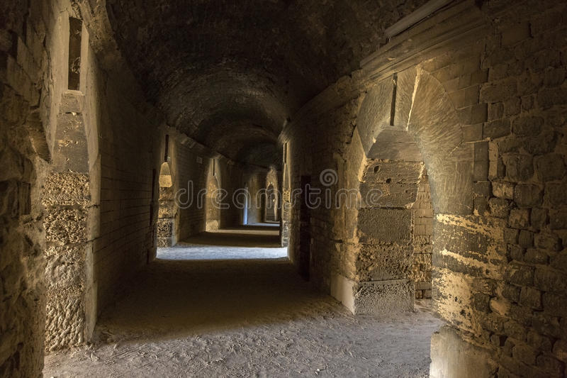 Roman Amphitheater - Arles - South of France stock photos