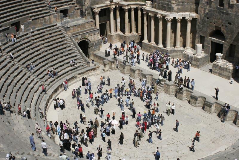 Roman amphitheater, Bosra, Syria, Middle East royalty free stock photo