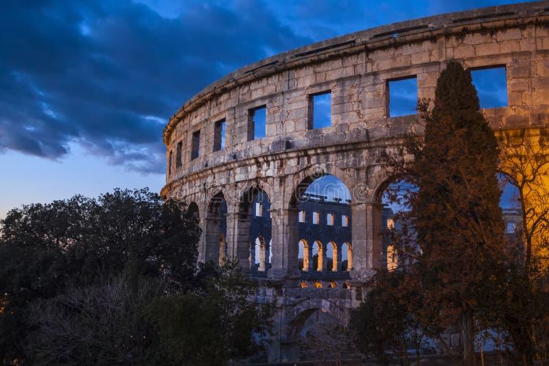 Roman Amphitheater de las pulas, Croacia foto de archivo