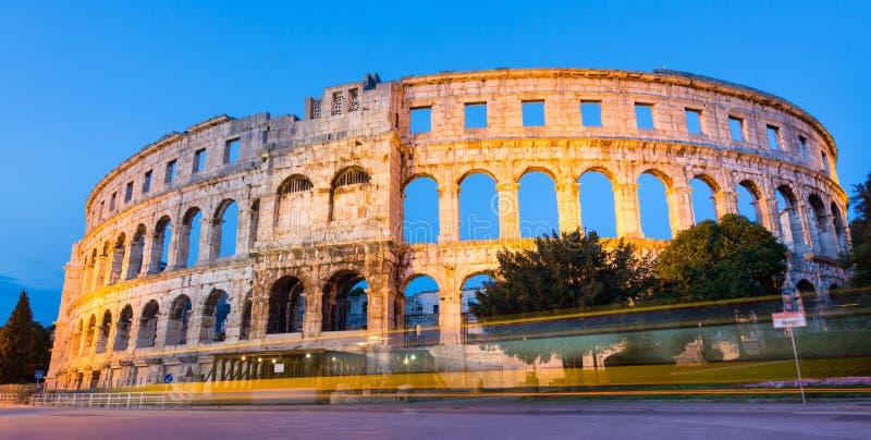 Roman Amphitheater de Pula, Croatie. photographie stock