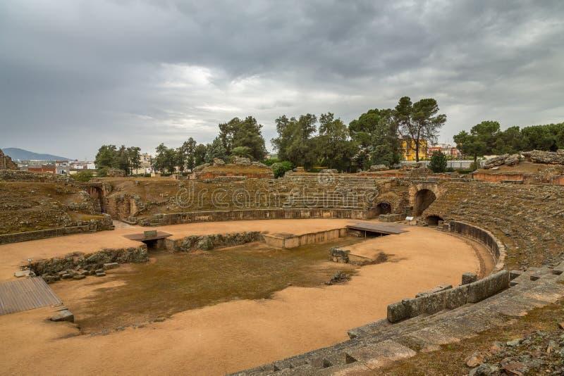 Roman Amphitheater em Merida 2 fotografia de stock royalty free