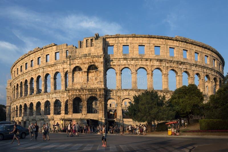 Roman Amphitheater - Pula - Kroatië stock foto's