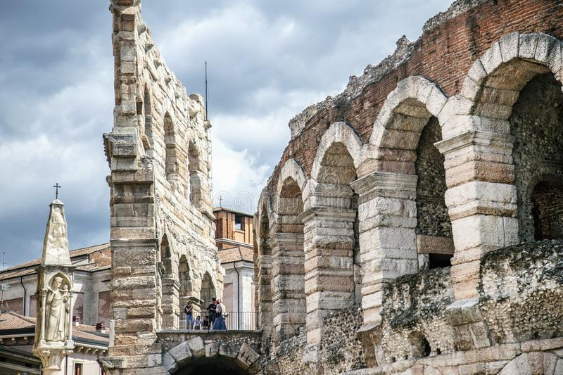 Roman Amphitheater stock images