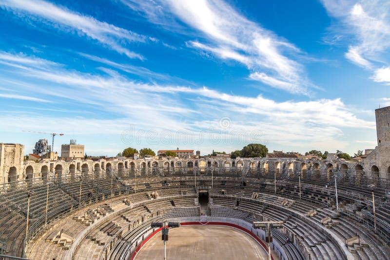 Roman Amphitheatre in Arles stockbild