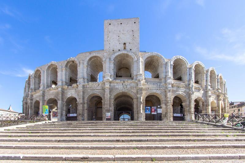 Roman amphitheatre in Arles, France royalty free stock images