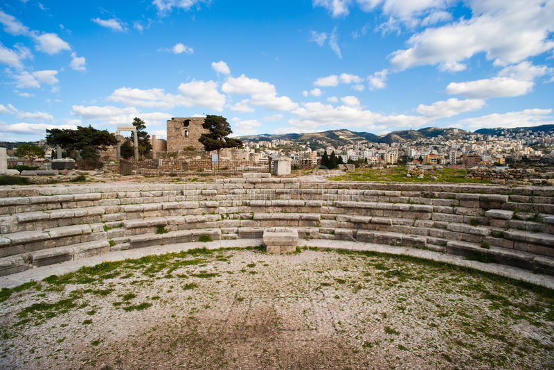 Roman Amphitheatre at Byblos Fortress.