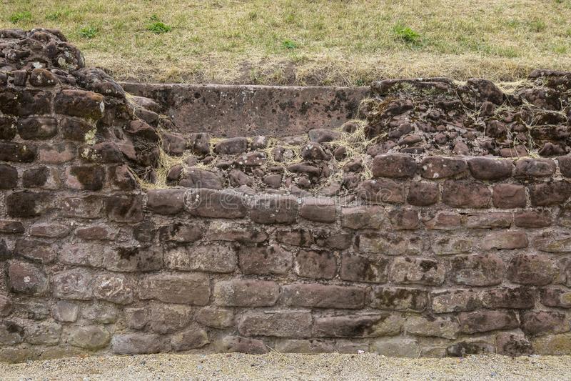 Roman Amphitheatre a Chester immagini stock