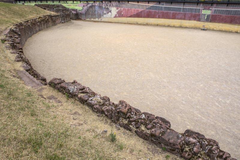 Roman Amphitheatre a Chester immagini stock libere da diritti