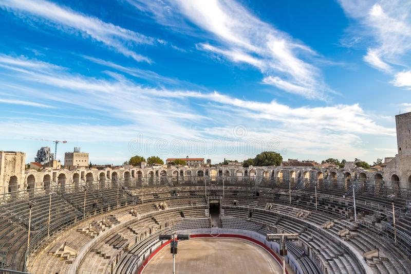 Roman Amphitheatre dans Arles image stock