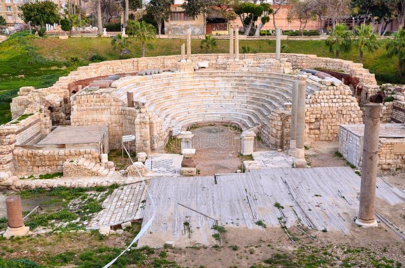 Roman Amphitheatre de l'Alexandrie photos stock