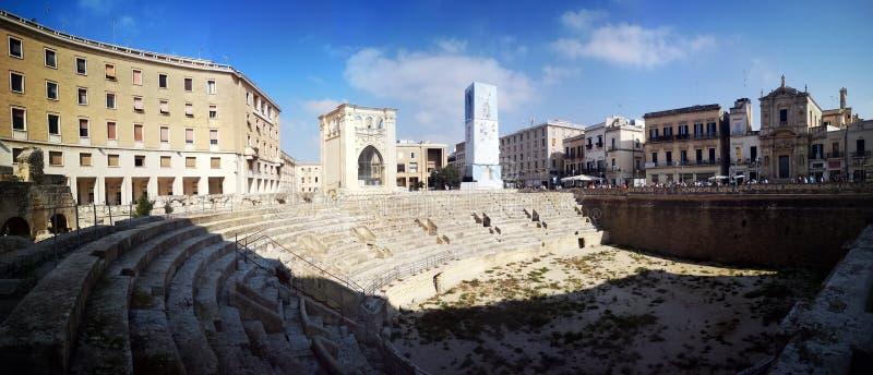 Roman Amphitheatre en Lecce, Italia fotografía de archivo