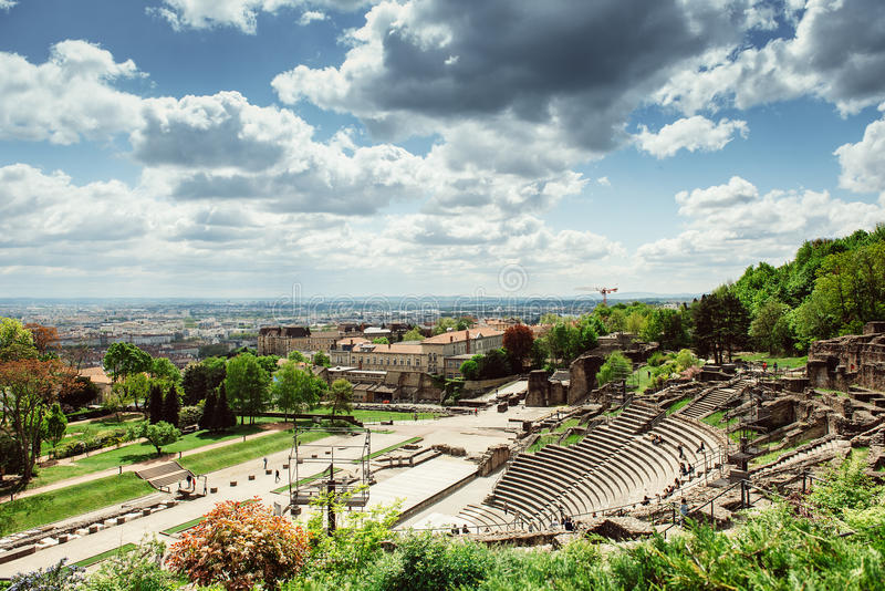 Roman Amphitheatre, Lyon, Frankreich lizenzfreie stockfotografie