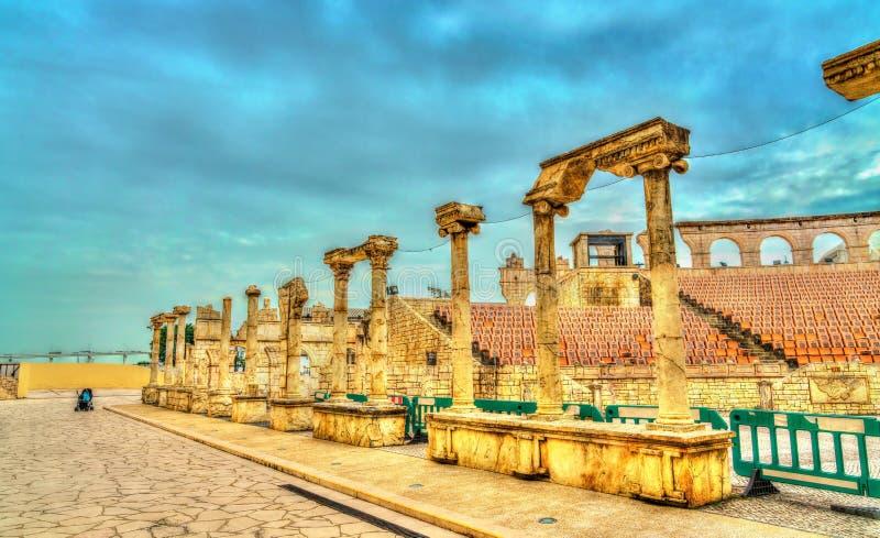 Roman Amphitheatre oder Colosseum an Macao-Fischer ` s Kai, China stockbild