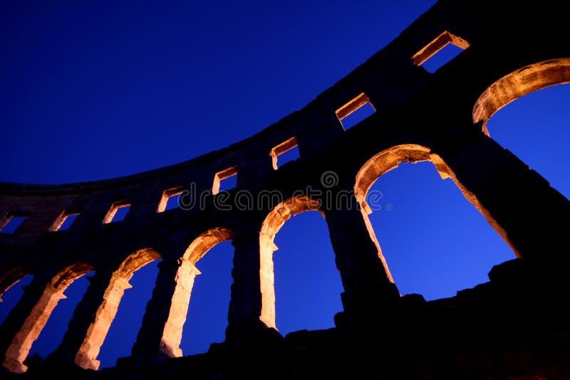 Roman Amphitheatre In Pula Royalty Free Stock Photography