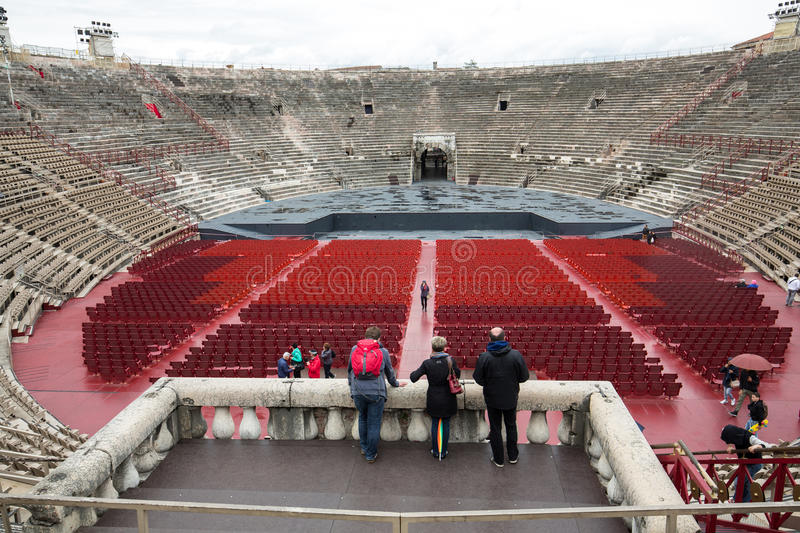 Roman amphitheatre in Verona, Italy. The place of annual festival operas. The Verona Arena is a roman amphitheatre built in 30 AD royalty free stock photos