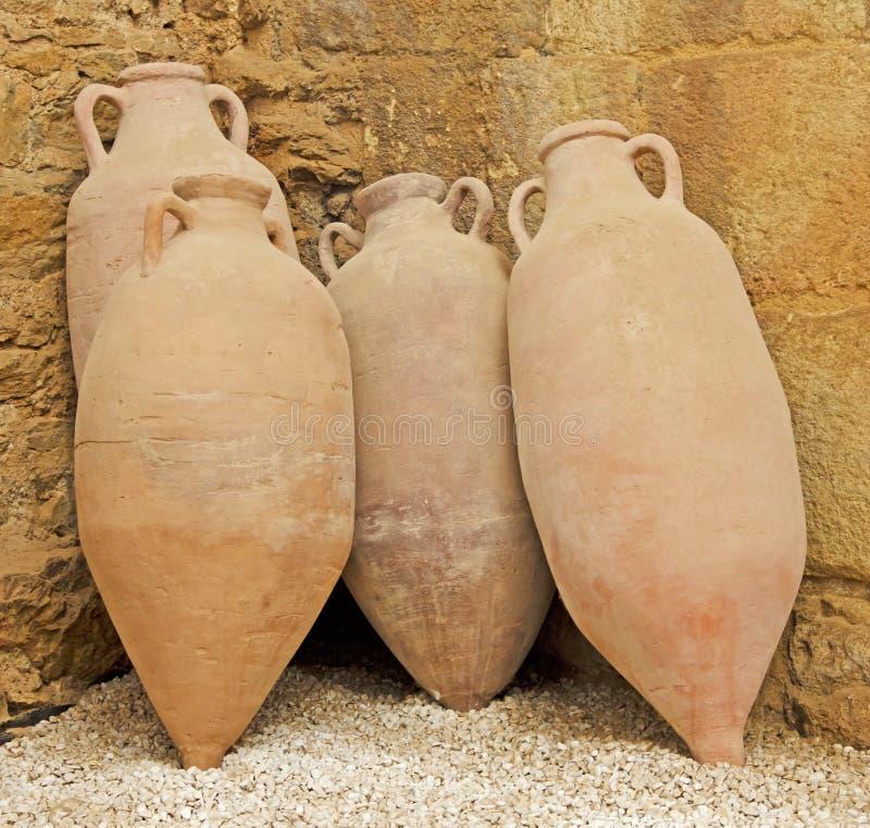 Roman Amphorae images libres de droits