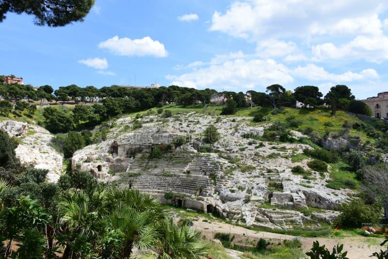Roman Ampitheatre, Cagliari, Sardinige, Itali? stock fotografie