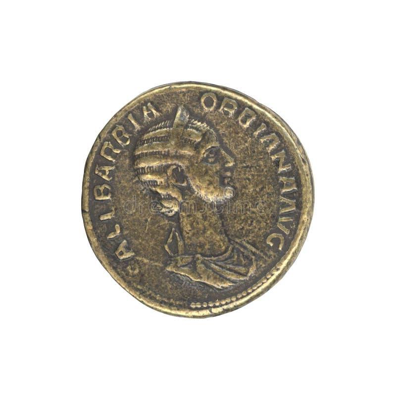 roman antikt mynt fotografering för bildbyråer