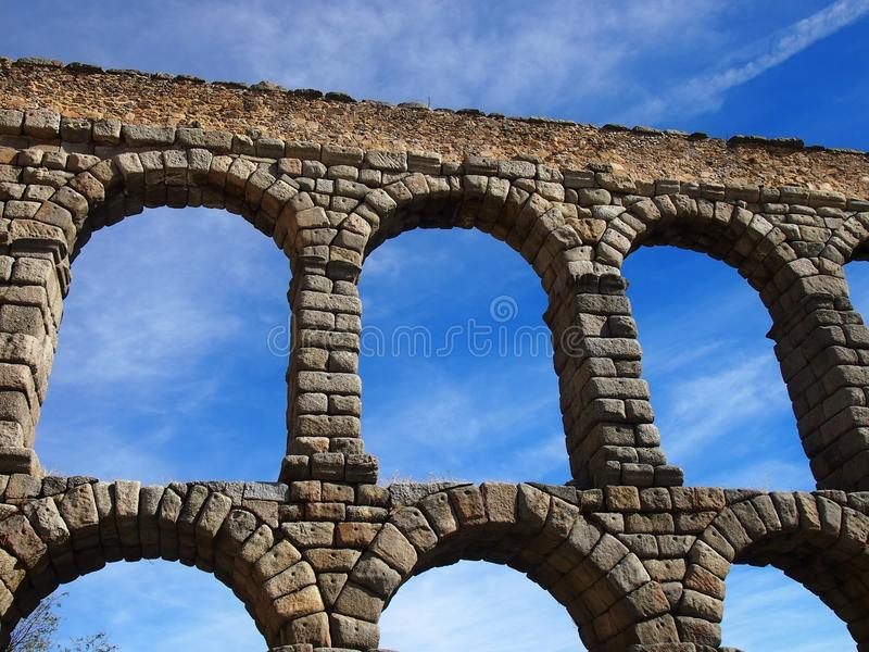 Roman Aquaduct en Segovia imagen de archivo libre de regalías