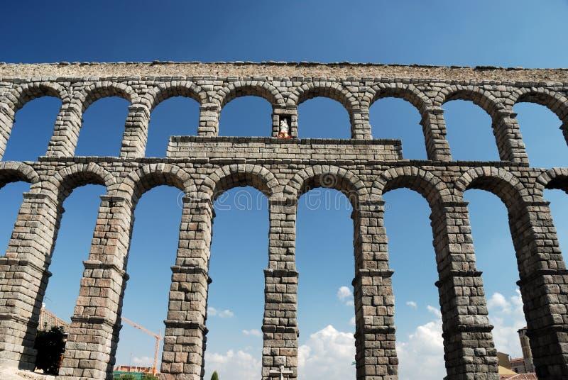 Roman Aqueduct in Segovia stock photography