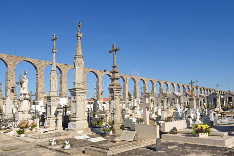 Roman Aqueduct, Vila do Conde, Douro Region,. Northern Portugal royalty free stock photos
