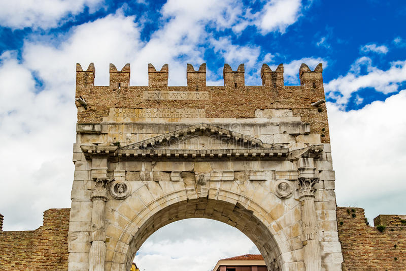 Roman Arch de Augustus foto de stock royalty free