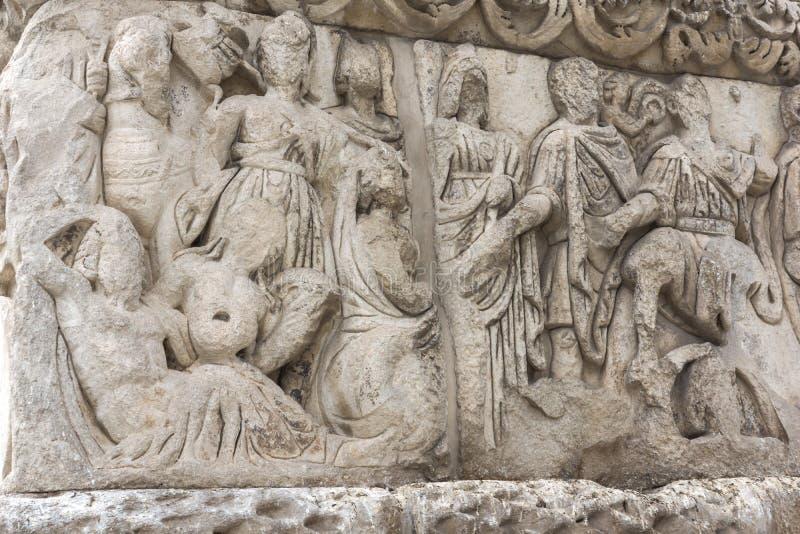 Roman Arch van Galerius in het centrum van stad van Thessaloniki, Centraal Macedonië, Griekenland royalty-vrije stock afbeelding