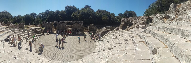 Roman Architecture Amphitheater royalty free stock photo