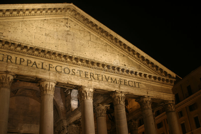 Roman Architecture - The Pantheon stock images