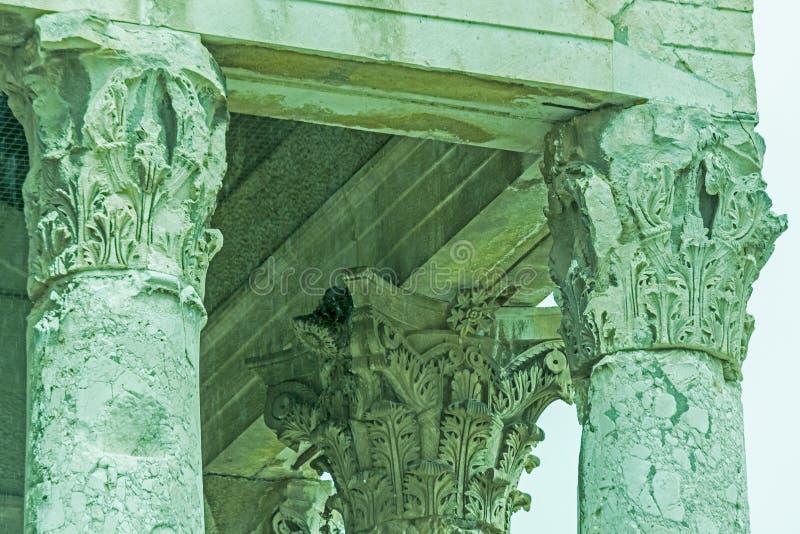 Roman architectuur in Pula, Kroatië royalty-vrije stock afbeelding