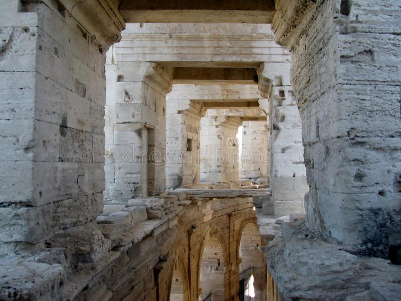 Roman Arena/Amphitheater in Arles, Provence, Frankreich stockbild