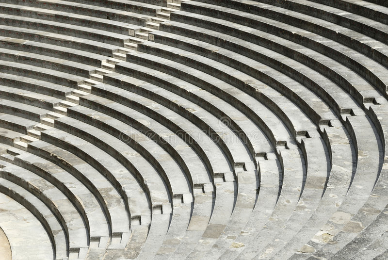 Roman Arena in Arles, France stock photos
