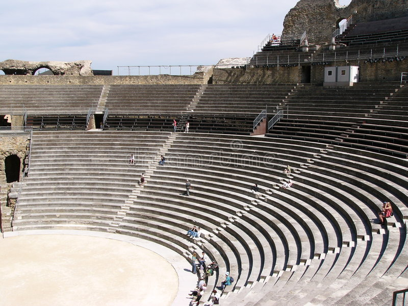 Roman arena in Provence stock images