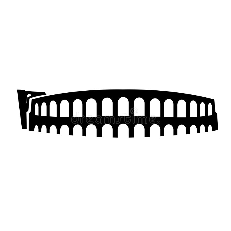Roman Arena Verona. Vectorial silhouette of roman arena in verona italy vector illustration