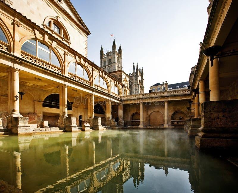 Roman baden, Bad het UK royalty-vrije stock fotografie