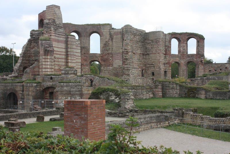 Roman Bath House anterior fotografía de archivo libre de regalías