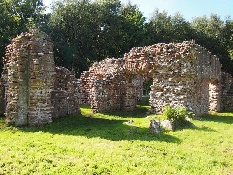 Roman Bath House in Ravenglass, Northern England royalty free stock images