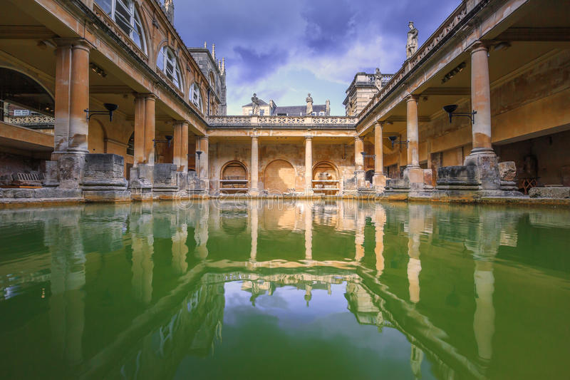Roman Bath, Inglaterra fotografia de stock