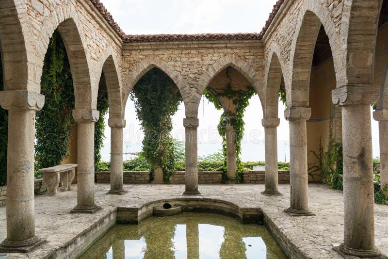 Roman bath in the yard of Balchik palace, Bulgaria. Roman bath in the yard of Balchik palace, Varna Province, Bulgaria stock photography
