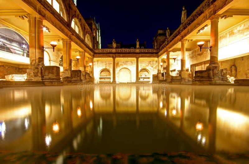 Roman baths. Ancient roman spa at bath england royalty free stock photos