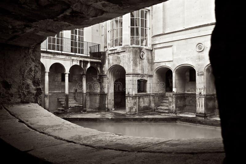 Roman Baths Alcove na cidade do banho Reino Unido fotografia de stock royalty free